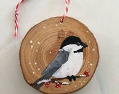 Image result for painted christmas ornaments on wood