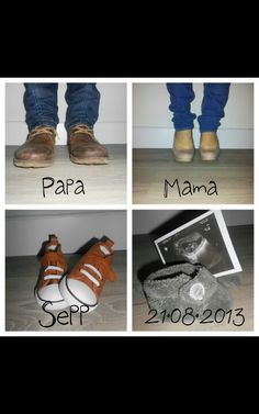 Pregnancy announcement- only with us all in our chucks!