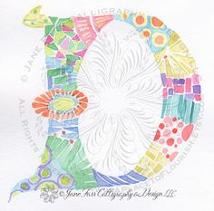 A Place To Flourish: Calligraphy Flourish Friday - Return to Contemporary Illuminated Letters