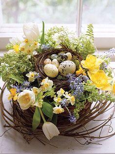 Spring Bird nest...pretty as a centerpiece