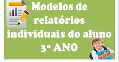 Modelos de relatórios individuais do aluno 3º ANO