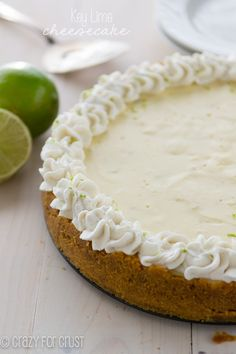 The perfect Key Lime Cheesecake - perfectly smooth, sweet and a little tart!