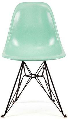 Fiberglass Shell Chair Mint - Side Shell Eiffel Base DSR - Modernica