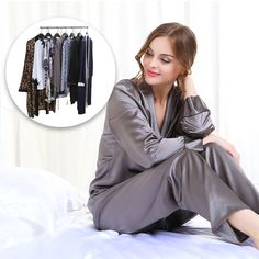 #LilySilk's silk sleepwear are the perfect blend of luxury and comfort. We selected 100% mulberry silk fabrics and designed them with fashionable style.