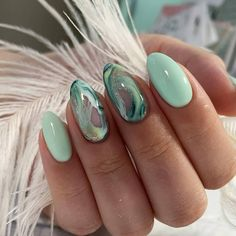 nail art nailart nail makeup prom dress makeup nail design hansen chrome nail makeup and makeup salon design nail designs nail designs makeup tutorial Green Nail Designs, Nail Art Designs, Design Art, Nails Design, Shellac Designs, Short Nail Designs, Perfect Nails, Gorgeous Nails, Pretty Nails