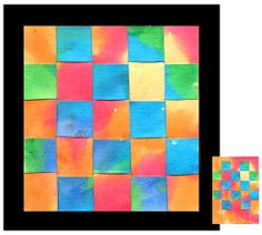 Art Projects for Kids: Warm and Cool Watercolor Weaving