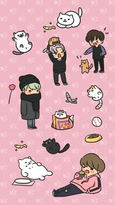 cr. prncessjin | I have this game, neko atsume.. if anyone wanted to know! Both…