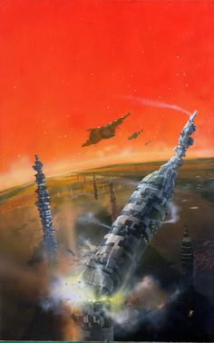 Chris Foss artwork for Away and Beyond by A E Van Vogt (1978)