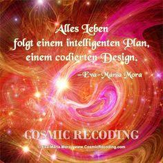 """""""Alles Leben folgt einem intelligenten Plan, einem codierten Design."""" —Eva-Maria Mora, COSMIC RECODING: Die neue Energiemedizin http://www.amazon.de/Cosmic-Recoding-Energiemedizin-Lichtvolle-kosmische/dp/3778774999/"""