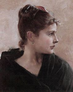 Painter Albert Edelfelt, 1854 - 1905. (Do not know title) -- This is such a gorgeous painting... almost looks like a photograph.