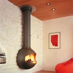 Emifocus wood stove fireplace from CF+D
