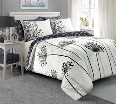 Meadow Duvet Quilt Bedding Set | Grey – Linens Range #BedLinenSets