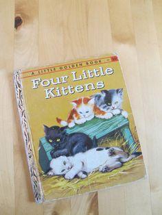 A Little Golden Book  Four Little Kittens by TheBigBlueMarble