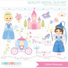 Little Princess Clip Art / Digital Clipart por MyClipArtStore