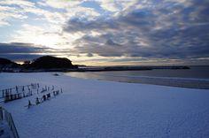 snow beach!!