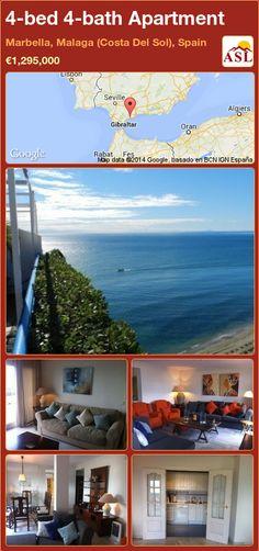 4-bed 4-bath Apartment in Marbella, Malaga (Costa Del Sol), Spain ►€1,295,000 #PropertyForSaleInSpain