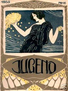 1905 ART NOUVEAU JUGEND MAGAZINE COVER