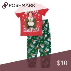"NWOT Green Buddy The Elf Christmas Pajama Pants S NWOT never worn super soft Christmas pajama pants. Goofy Buddy the Elf ""OMG Santa I know him!"" Pants funny quote from the movie, Elf. Size S could also probably fit anyone from an XS-a smaller medium. Intimates & Sleepwear Pajamas"
