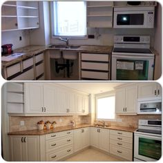 Before and after kitchen renovation - www.ArchwoodConstruction.com