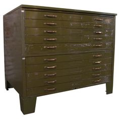 Cole steel vintage flat file cabinet industrial pinterest flat vintage industrial metal flat file cabinet from a unique collection of antique and modern cabinets malvernweather Images