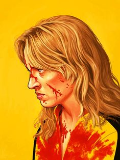 """""""I am gonna ask you questions. And every time you don't give me answers, I'm gonna cut something off. And I promise you, they will be things you will miss"""" - The Bride (Uma Thurman) in Kill Bill vol.1 [Mike Mitchell the portrait show]"""