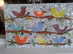 happy bird mosaic
