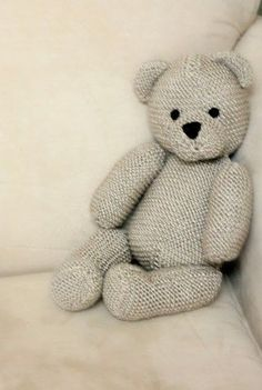 Teddy Bear by Debbie Bliss Free Knitting Pattern | Favorite Bear Knitting Patterns including Teddy Bears, Paddington Bear, Koala Bear - many free patterns