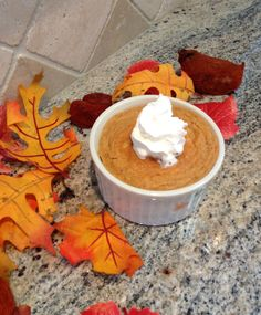 It's not quite fall OFFICIALLY yet, but that doesn't mean we have to wait to enjoy all the wonderful foods of fall. Ever since I developed my banana chocolate chip custard recipe, I've been brainst...