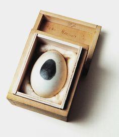 "Piero Manzoni [Italy] ~ ""Egg sculpture"", Egg in wooden box × × cm). John Baldessari, Robert Morris, Nouveau Realisme, Giuseppe Penone, Piero Manzoni, Neo Dada, Fluxus, Claes Oldenburg, Jeff Koons"