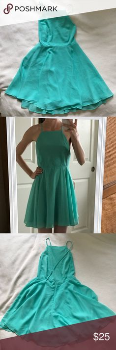 Silence + Noise Teal Strappy Dress Sz 0 Size 0. Excellent preowned condition. Strappy back. silence + noise Dresses
