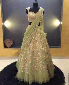Buy beautiful Designer fully custom made bridal lehenga choli and party wear lehenga choli on Beautiful Latest Designs available in all comfortable price range.Buy Designer Collection Online : Call/ WhatsApp us on : Green Lehenga, Net Lehenga, Bridal Lehenga Choli, Indian Lehenga, Pakistani Bridal, Anarkali, Lehenga Style, Lehenga Gown, Indian Bridal