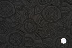 FP19555C Black Floral Brocade