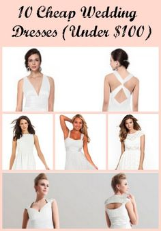 10 Cheap Wedding Dresses (Under $100) - Sincerely, Mindy