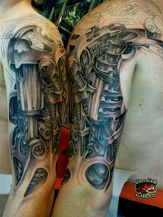 two sleeves tattoo