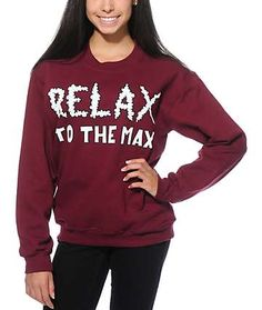 Jac Vanek Relax To The Max Crew Neck Sweatshirt