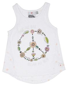 EVES SISTER TOTS GIRLS PEACE TEE - WHITE on http://www.surfstitch.com