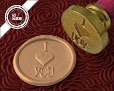 I HEART YOU Wax Seal Stamp by Get Marked WS0160 por GetMarked