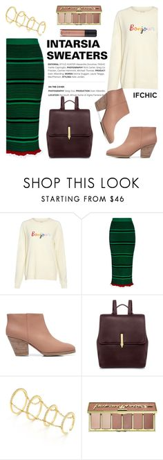"""""""INTARSIA SWEATERS"""" by ifchic ❤ liked on Polyvore featuring Chinti and Parker, Kenzo, Rachel Comey, Karen Walker, Fallon, tarte, L'Oréal Paris and contemporary"""