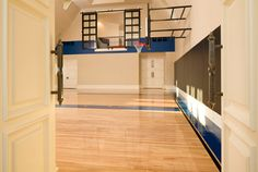 basketball court, with a dance studio over looking the basketball court that would be the life.