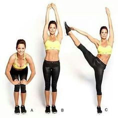Squat, stretch,point