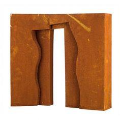 "FAUSTINO AIZKORBE ""PÓRTICO"" Escultura en acero cortén. Medidas: 48x 48 x 10 cm."