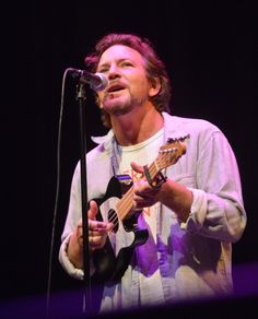 Eddie Vedder makes a surpise appearance as the opening act of Bill... News Photo 459916737
