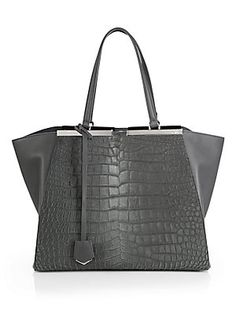 Fendi Haircalf & Leather Trois Jour Shopper (=)