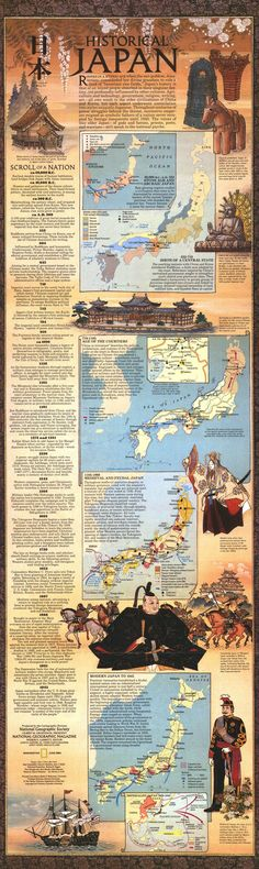 History of Japan Infographic. Click on to Enlarge