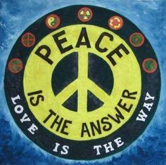 ☮ American Hippie Art ~ Peace Sign .. Love