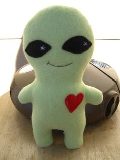Custom Creature One Green Alien with Domed Head by GypsyGarden, $14.00