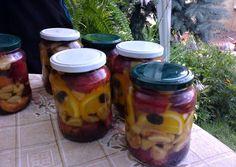 Almás, nektarinos, narancsos, mazsolás kompót konyakkal és vaníliával recept foto