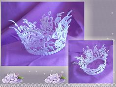 Princess crown leaves-FSL-original lace design-Two variants
