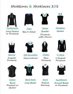 How to wear necklaces neckline clothing Trendy ideas Estilo Fashion, Look Fashion, Fashion Beauty, Fashion Tips, Daily Fashion, Classic Fashion, Necklace For Neckline, Techniques Couture, Necklace Types