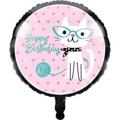 Check out the deal on Purr-Fect Kitty Cat Party Happy Birthday Foil Balloon at Party at Lewis Elegant Party Supplies, Plastic Dinnerware, Paper Plates and Napkins Happy Birthday Foil Balloons, Happy Birthday Parties, Cat Birthday, Birthday Celebrations, Themed Parties, Birthday Wishes, Helium Filled Balloons, Mylar Balloons, Latex Balloons